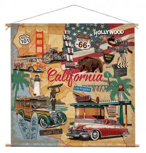 Wanddoek - California Collage