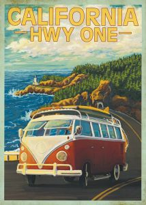 Highway One Bus - Canvas