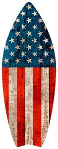 Surfboard - USA Flag