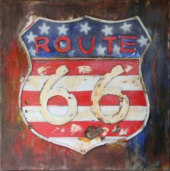 Route 66 - red, blue & white
