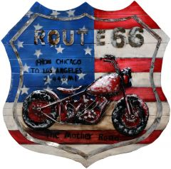 Route 66 shield Motor