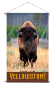 Wanddoek - Buffalo in Yellowstone