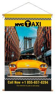 Wanddoek - New York Taxi Brooklyn