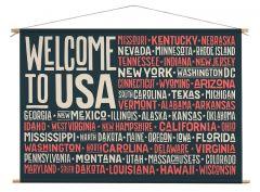 Wanddoek - Welkcome to USA