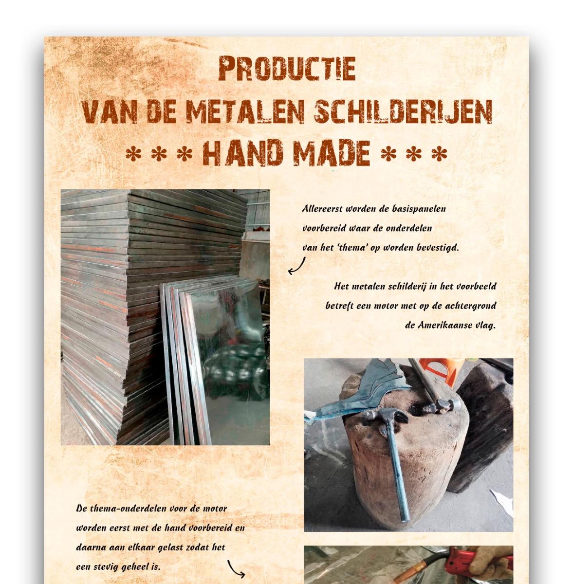 Productie metalen schilderijen